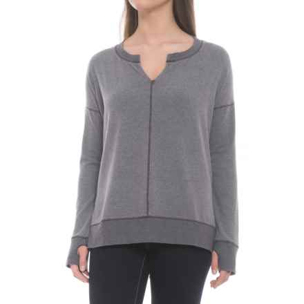 dylan Nomad Fleece Split Seamed Shirt - Long Sleeve (For Women) in Vintage Navy - Closeouts