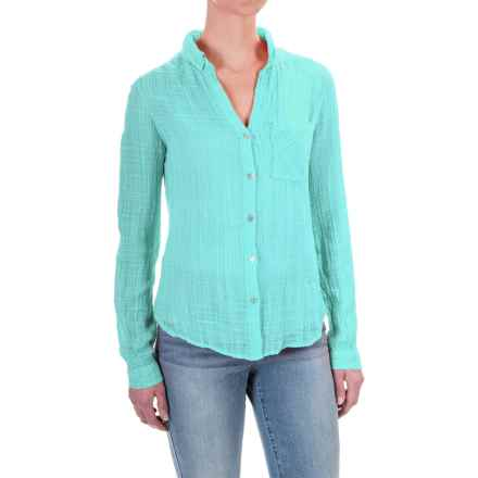 dylan One-Pocket Shirt - Cotton-Rayon, Long Sleeve (For Women) in Vintage Aqua - Closeouts
