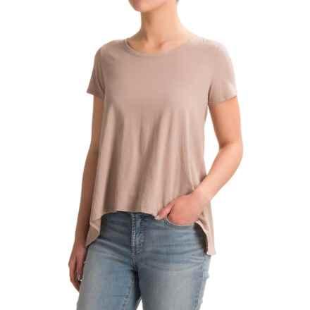 dylan Open Back Ruffle Shirt - Organic Cotton, Short Sleeve (For Women) in Storm - Closeouts