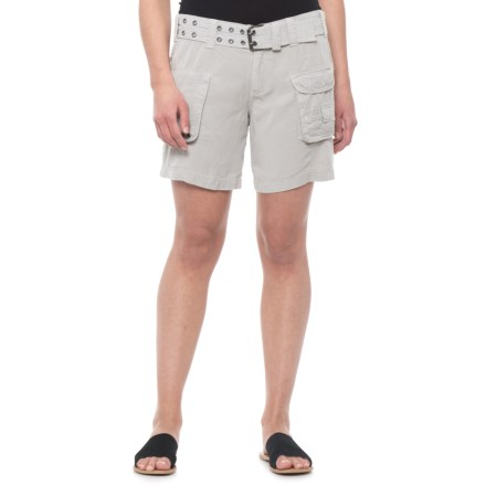 c6b82af7d dylan Pale Grey Washed Utility Shorts - TENCEL® (For Women) in Pale Grey