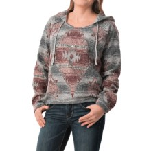 dylan Pebble Pile Fleece Hoodie (For Women) in Navajo Blanket/Charcoal - Closeouts
