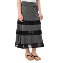 dylan Peek-a-Boo Skirt - Modal-Chiffon (For Women) in Black - Closeouts