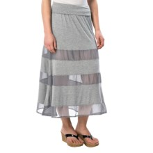 dylan Peek-a-Boo Skirt - Modal-Chiffon (For Women) in Heather - Closeouts