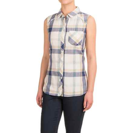 dylan Plaid Flannel Shirt - Sleeveless (For Women) in Natural Malibu - Closeouts