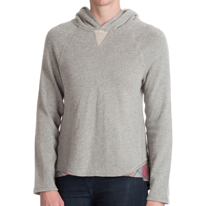 Dylan plaid trim vintage hoodie shirt for women save 75 - Hooi plaid ...