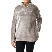 dylan Plush Pebble Pullover Sweater - Fleece, Zip Neck (For Women) in Faded Heather - Closeouts
