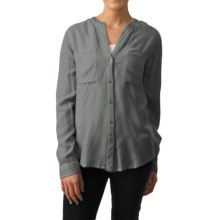 dylan Prairie Blouse - Long Sleeve (For Women) in Vintage Grey - Closeouts