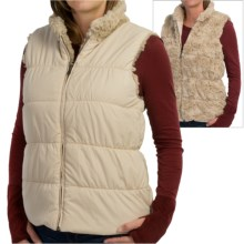 dylan Puffer Reversible Vest - Faux Fur, Insulated (For Women) in Shearling - Closeouts