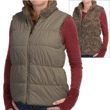 dylan Puffer Reversible Vest - Faux Fur, Insulated (For Women) in Vintage Jungle - Closeouts