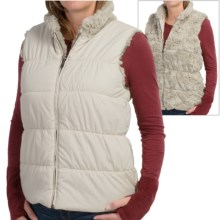 dylan Puffer Reversible Vest - Faux Fur, Insulated (For Women) in Vintage White - Closeouts