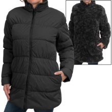 dylan Reversible Puffer Coat - Faux Fur, Insulated (For Women) in Black - Closeouts