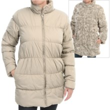 dylan Reversible Puffer Coat - Faux Fur, Insulated (For Women) in Vintage White - Closeouts