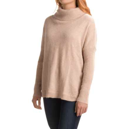 dylan Ribbed Trim Turtleneck Sweater (For Women) in Oatmeal - Closeouts