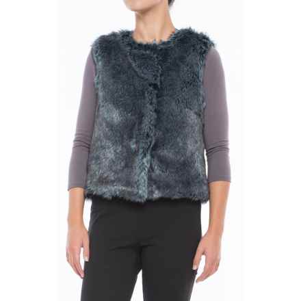 dylan Rock It Faux-Fur Vest - Plaid Lined (For Women) in Indigo - Closeouts