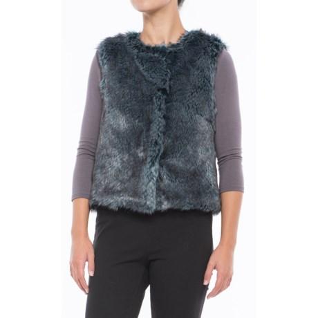 dylan Rock It Faux-Fur Vest - Plaid Lined (For Women) in Indigo