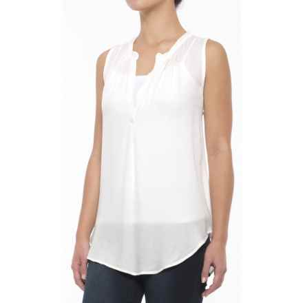dylan Sequined Tunic Tank Top (For Women) in Fresh White - Closeouts