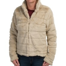 dylan Sheared Stripe Modern Jacket (For Women) in Shearling - Closeouts