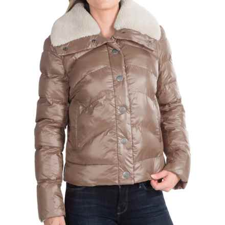 dylan Short Quilted Jacket - Sherpa Collar (For Women) in Gold - Closeouts