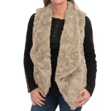 dylan Silky Faux-Fur Draped Vest (For Women) in Shearling - Closeouts