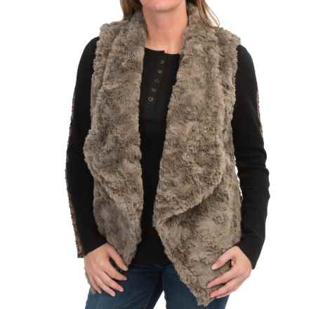 dylan Silky Faux-Fur Draped Vest (For Women) in Vintage Jungle - Closeouts
