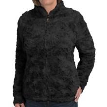 dylan Silky Faux-Fur Jacket - Mock Neck (For Women) in Black - Closeouts