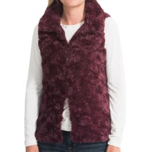 dylan Silky Faux-Fur Vest (For Women) in Burgundy - Closeouts