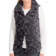 dylan Silky Faux-Fur Vest (For Women) in Charcoal - Closeouts