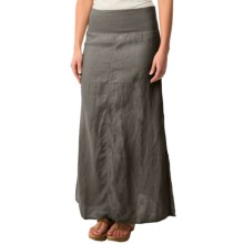 dylan Slit Maxi Skirt (For Women) in Charcoal - Closeouts