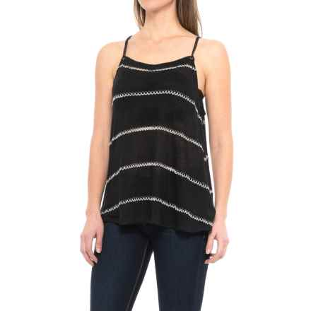 dylan Sloane Stripe String Tank Top (For Women) in Soft Black - Closeouts