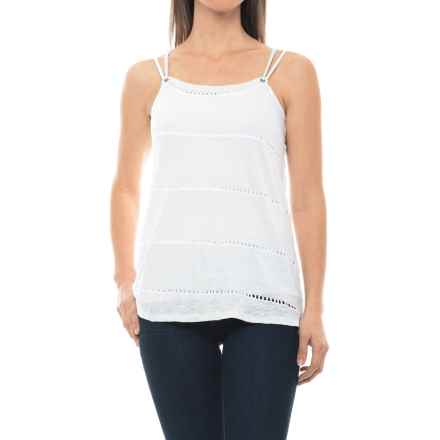 dylan Sloane Stripe String Tank Top (For Women) in White - Closeouts