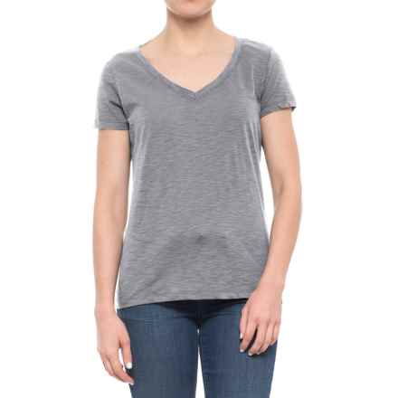 dylan Slub Classic V-Neck T-Shirt - Short Sleeve (For Women) in Heather - Closeouts
