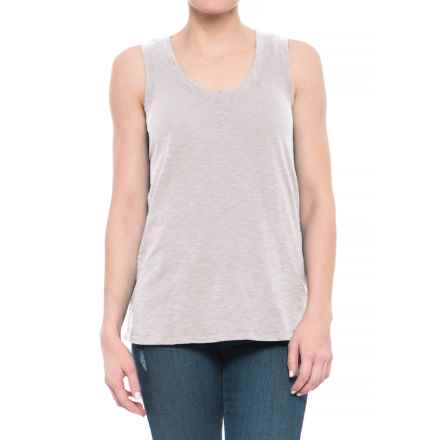 dylan Slub Long Layering Tank Top (For Women) in Mist - Closeouts