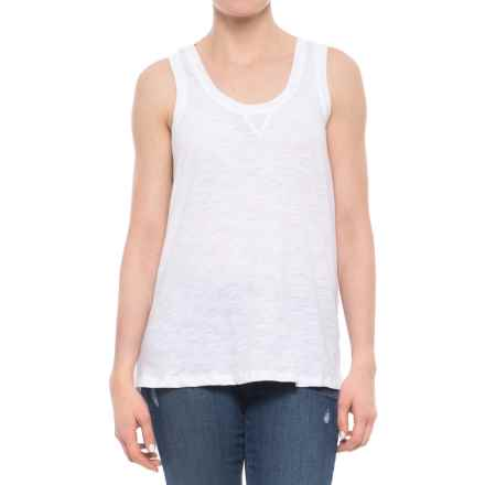 dylan Slub Long Layering Tank Top (For Women) in White - Closeouts