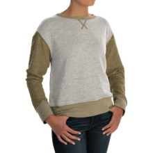 dylan Slubby French Terry Sweatshirt (For Women) in Cargo - Closeouts