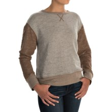 dylan Slubby French Terry Sweatshirt (For Women) in Cocoa - Closeouts