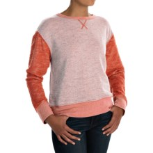 dylan Slubby French Terry Sweatshirt (For Women) in Orange Red - Closeouts
