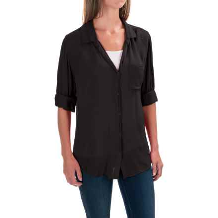 dylan Soft Classic Shirt - Rayon, Long Sleeve (For Women) in Soft Black - Closeouts