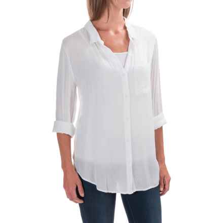 dylan Soft Classic Shirt - Rayon, Long Sleeve (For Women) in White - Closeouts