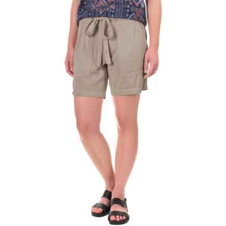 dylan Soft-Drape Shorts - Removable Tie Belt (For Women) in Faded Army - Closeouts