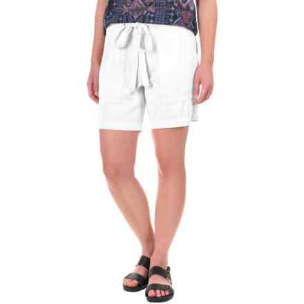 dylan Soft-Drape Shorts - Removable Tie Belt (For Women) in Perfect White - Closeouts