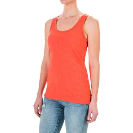 dylan Soft Slub Tank Top (For Women) in Red - Closeouts