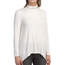 dylan Softest Tunic Turtleneck - Long Sleeve (For Women) in White - Closeouts