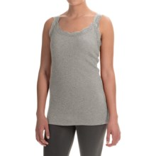dylan Solid Lace-Trimmed Tank Top (For Women) in Heather - Closeouts