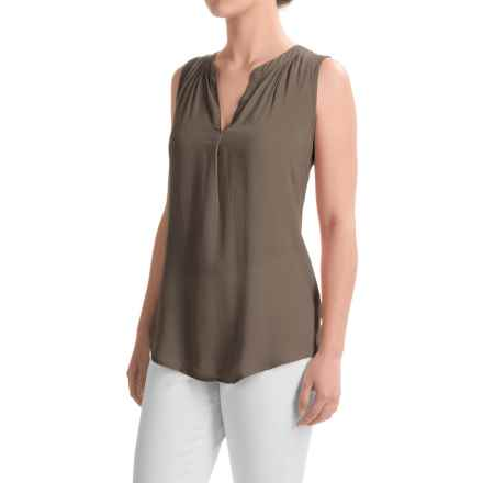 dylan Solid Tunic Shirt - Sleeveless (For Women) in Elm - Closeouts