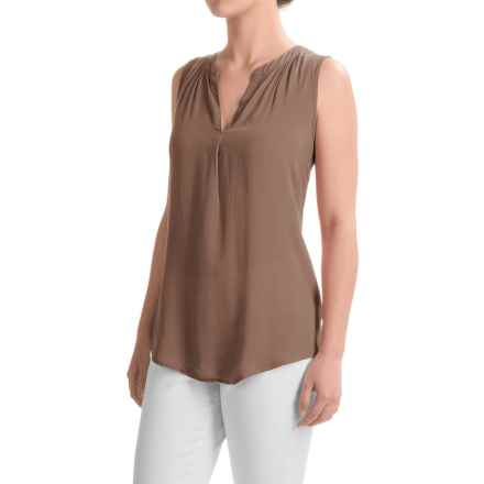 dylan Solid Tunic Shirt - Sleeveless (For Women) in Fawn - Closeouts
