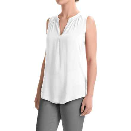 dylan Solid Tunic Shirt - Sleeveless (For Women) in White - Closeouts