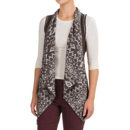dylan Southwest Burnout Vest (For Women) in Charcoal - Closeouts