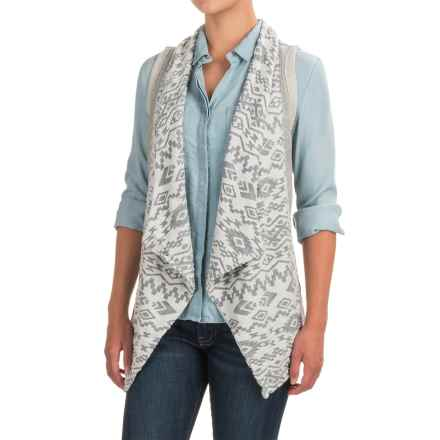 dylan Southwest Burnout Vest (For Women) in Fresh White - Closeouts
