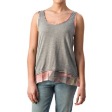 dylan Spanish Floral Tank Top (For Women) in Charcoal - Closeouts