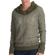 dylan Stretch Lace Shirt - Cowl Neck, Long Sleeve (For Women) in Jeep - Closeouts
